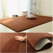 Coffee table carpet thick coral fleece living room bedroom full tatami household modern powder can be set bedside mat