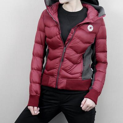 匡威棒球服女装2018冬季外套短款保暖休闲运动羽绒服10002880-A03
