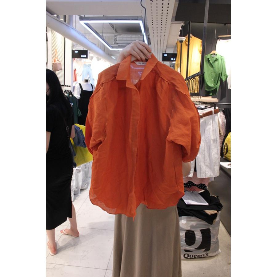 进口韩国东大门正品代购女装2018夏装女士褶裥短袖百搭衬衫均码