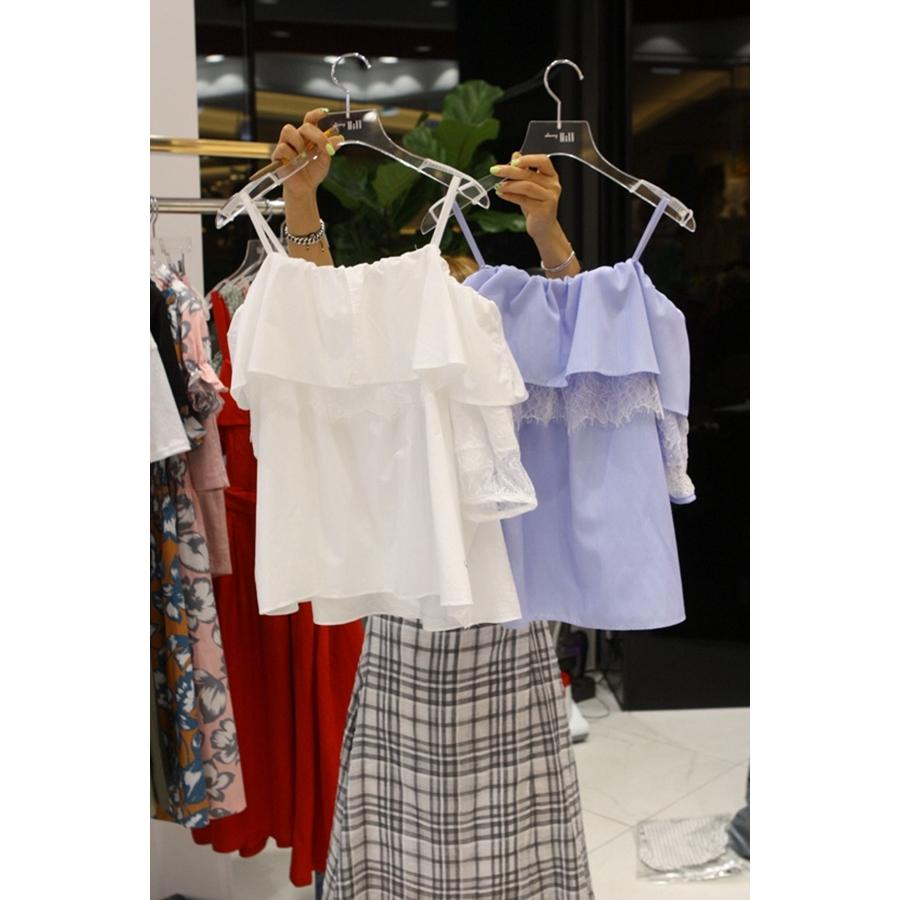 进口韩国东大门正品代购女装2018夏装女士简洁吊带衬衫左右色均码