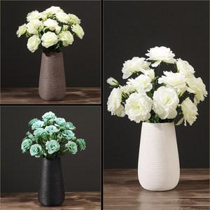 现代简约陶瓷花瓶干花插花北欧白色欧式复古创意家居客厅装饰摆件