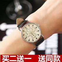 新款手表男女士精钢带时尚韩版学生防水夜光情侣石英表非机械2018