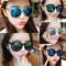 墨镜女潮明星款眼镜2017新款圆形网红太阳镜女士圆脸韩国复古眼睛