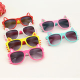 Children's sunglasses girl anti-UV princess cute tide sunglasses boy personality Korean version of the child eye mirror