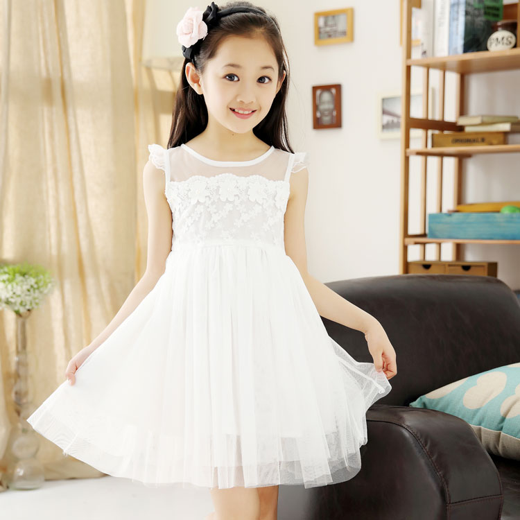 公主裙白色童装