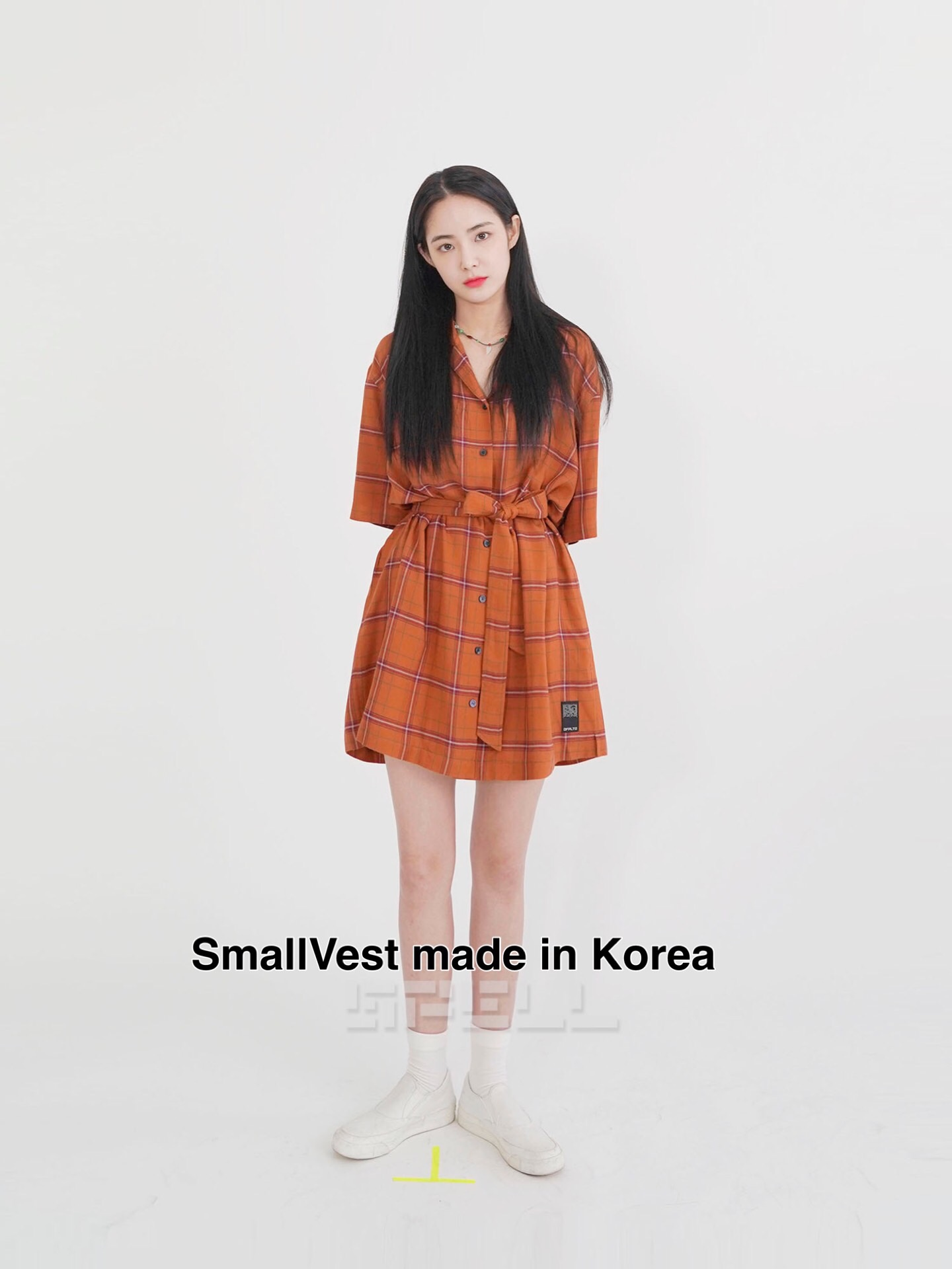 秒发|19夏5!SVEST韩国东大门SPELL EDIT 超好质感格子衬衫连衣裙