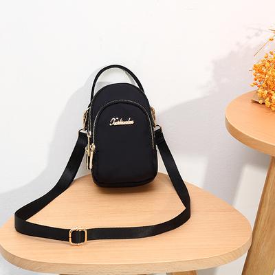 2019夏季新款女包牛津布三层斜挎包手机包时尚休闲小包布手提包包