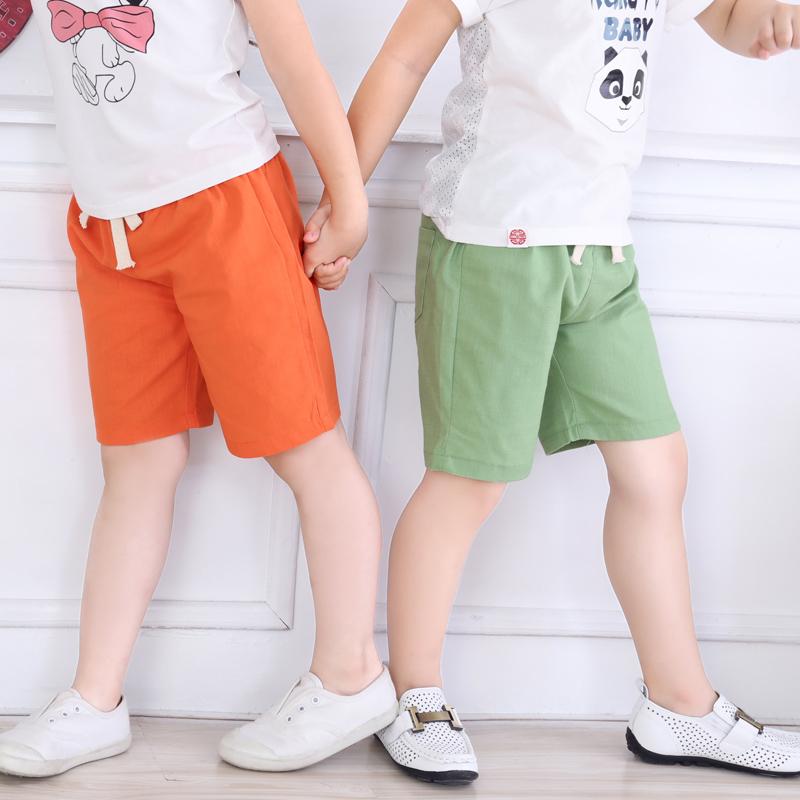 儿童短裤夏薄款宝宝2019夏装童装五分裤子男童中裤女童沙滩打底裤