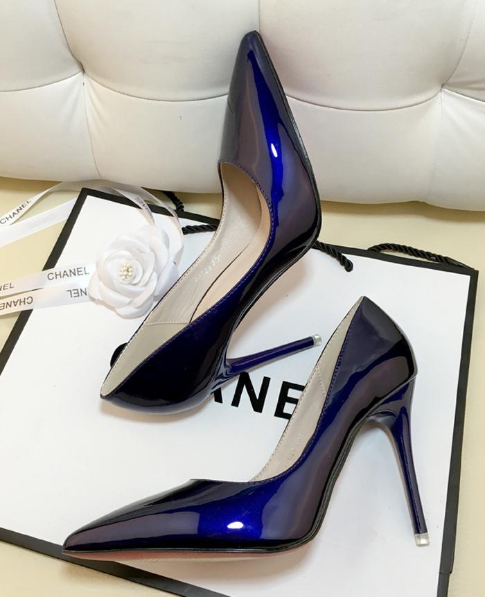 单鞋蓝色女