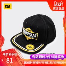 卡特春夏新款 CAT 平沿棒球帽镶边鸭舌帽CI1BC20139AC09