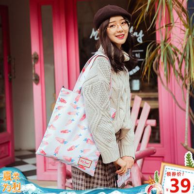 HKS-HOMME街拍手提单肩包少女百搭学生书包购物袋可爱仙女托特包