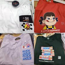女装 UNIQLO优衣库BRANDS日本零食糖果品牌okashi不二家T恤牛奶妹