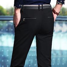 男士休闲裤子百搭西裤加绒加厚秋冬季装修身直筒商务2018新款长裤