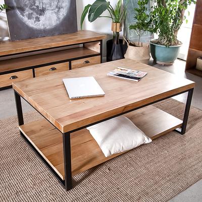 美式乡村loft工业风格 铁艺茶几做旧复古休闲咖啡桌实木茶几餐桌