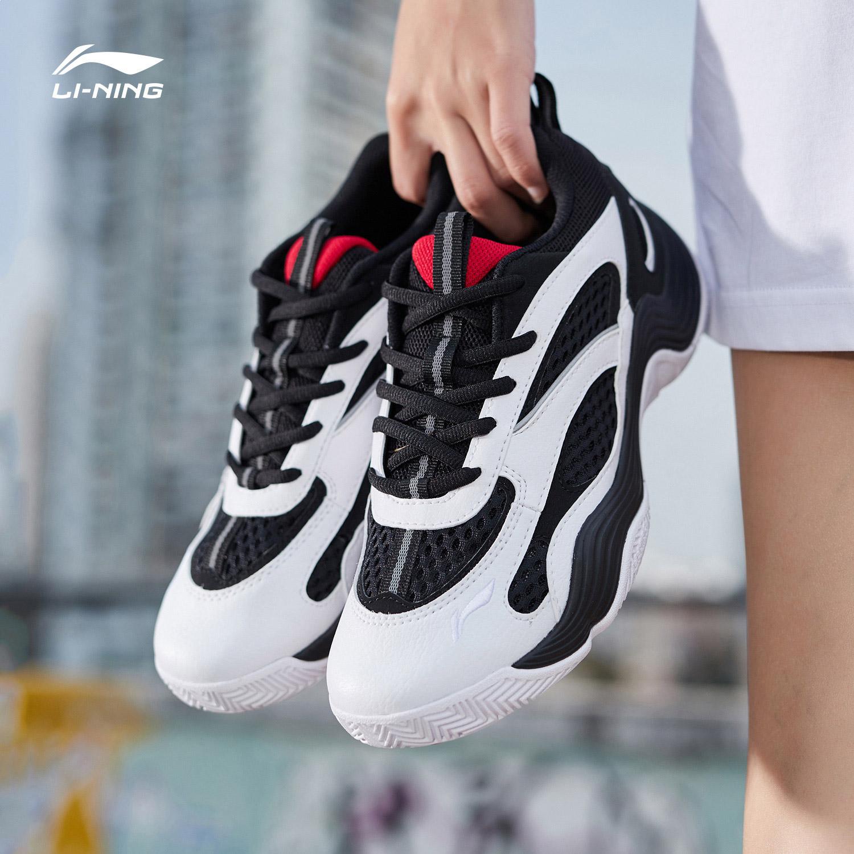 李宁休闲鞋女鞋2019新款夏季透气时尚经典百搭篮球运动鞋AGBP012