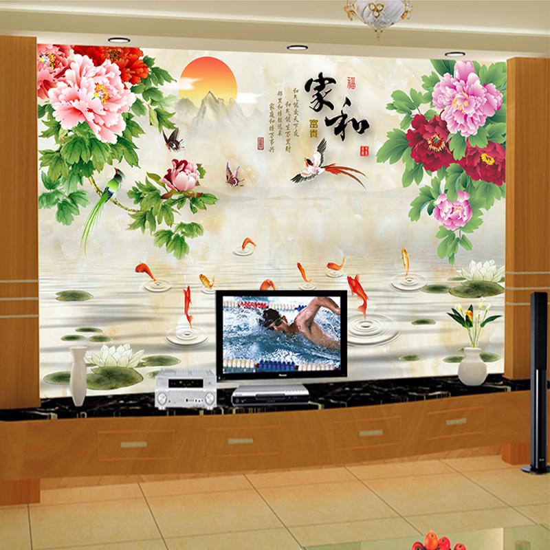 电视背景墙瓷砖文化石墙砖壁画3D立体微晶石家和客厅瓷砖背景墙