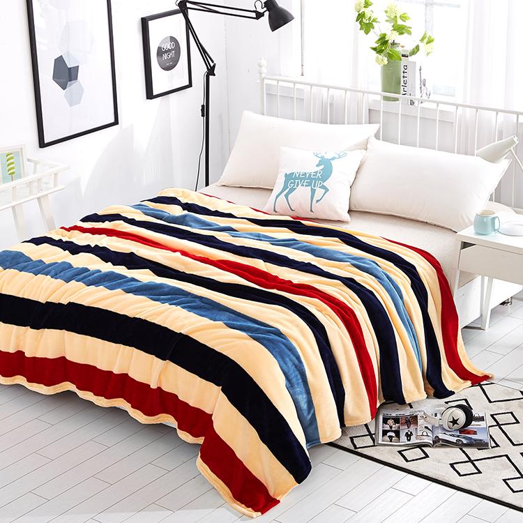 夏季空调午睡毯法兰绒毛毯珊瑚绒毯子单双人薄款绒床单沙发毯盖毯