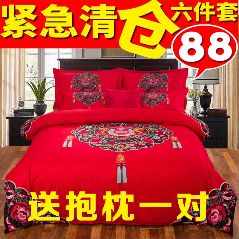 婚庆四件套床单式
