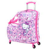 HelloKitty children's trolley case girl baby can sit can ride the suitcase child cartoon suitcase 20 inch