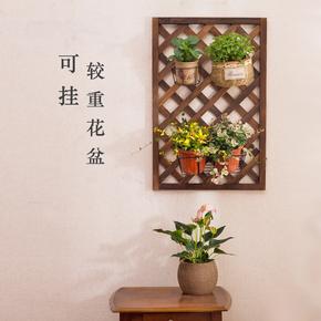 实木阳台墙壁花架 壁挂免打孔墙上植物架子室内悬挂吊兰挂墙花盆