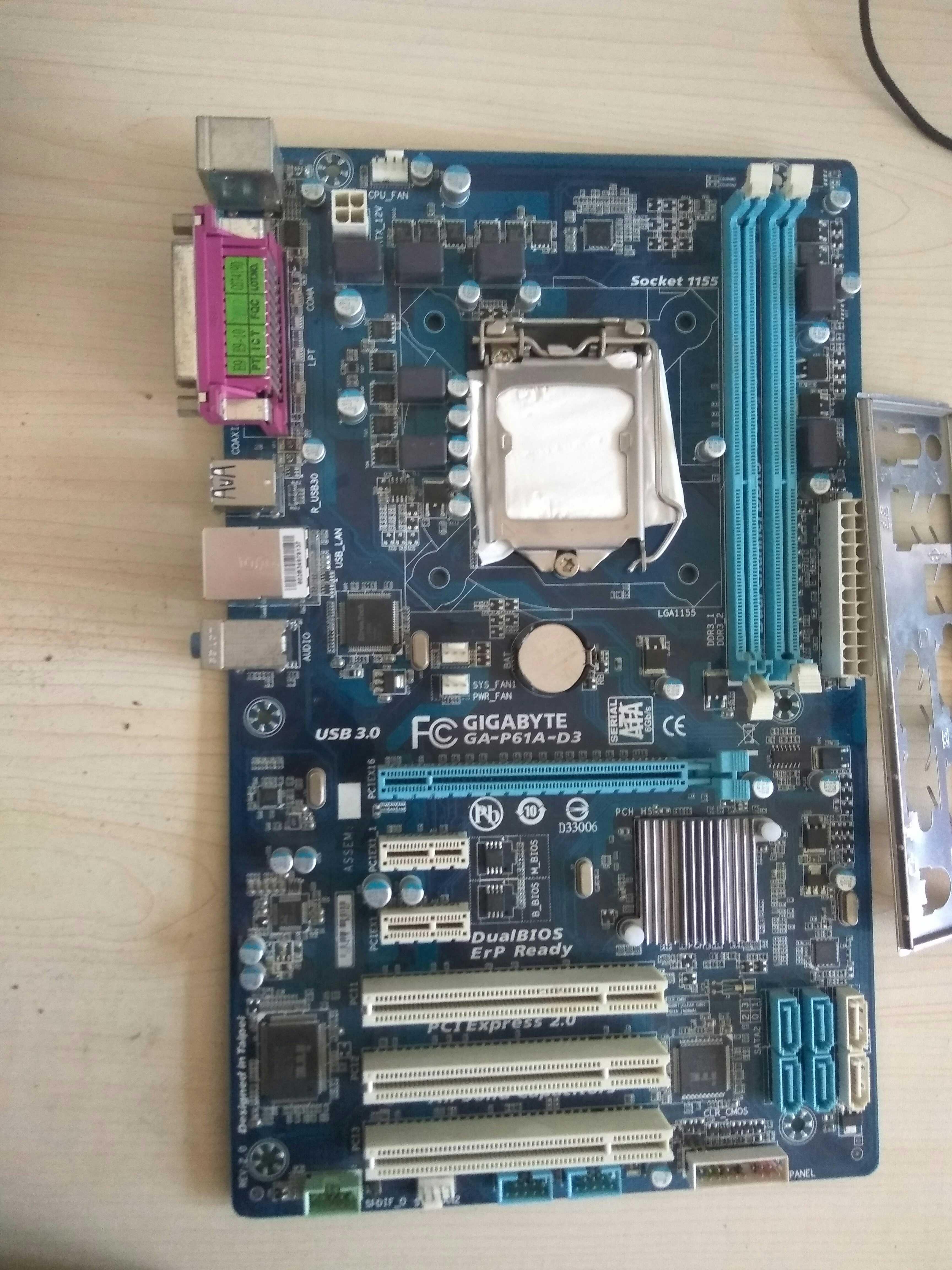 包邮技嘉GA-P61A-D3/S3  1155针 DDR3独立显卡大板成色九成新