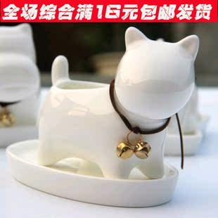 陶瓷花盆 多肉陶瓷盆肉肉花盆多肉植物花盆卡通动物花盆小狗小猫