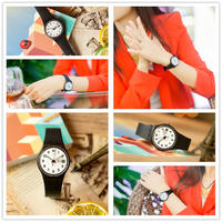 Swatch/Swatch Watch Color Code Series Quartz Resin Student Watch Once again GB743