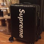 潮牌白色字母贴纸行李箱旅行箱贴滑板墙壁贴画防水615 superme个性
