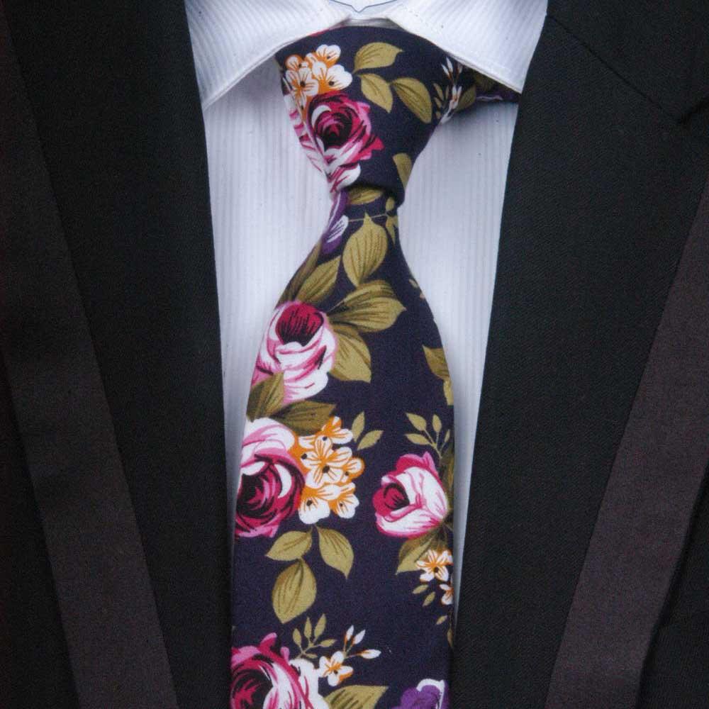 伊生酷 领带男正装商务窄版韩版棉花纹数码印花特色领带6.5CM包邮