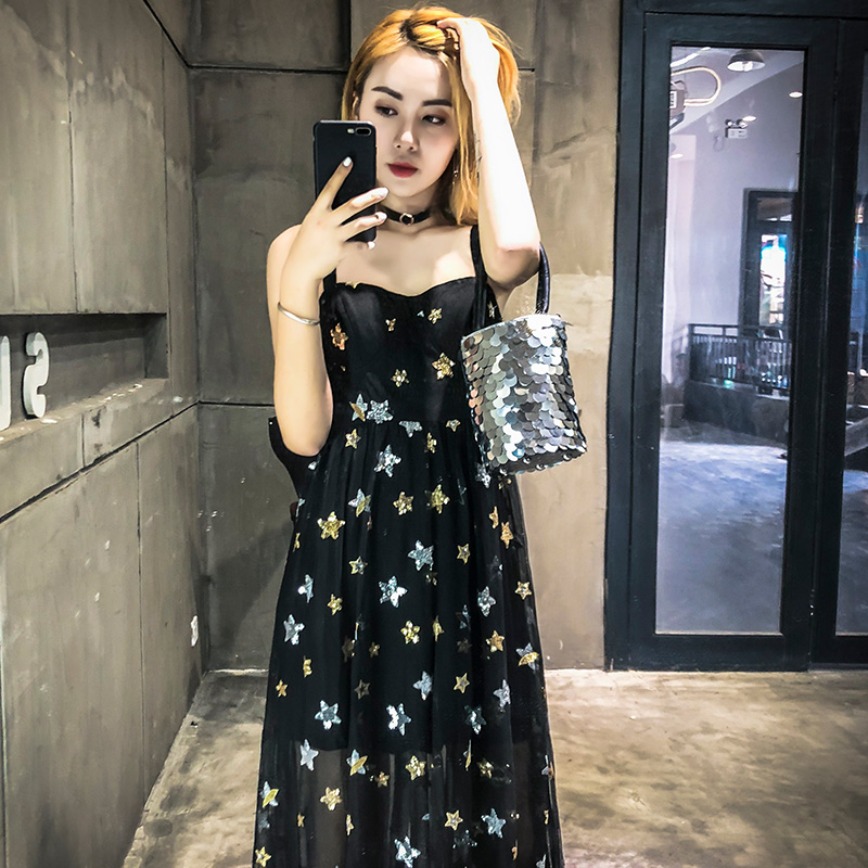 2018 new summer sling ins super fire dress dress female  thorn