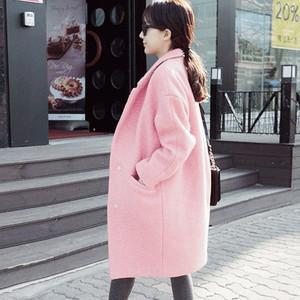 毛呢外套显瘦加厚茧型大衣中长款