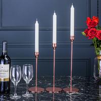 简约现代铁艺烛台欧式装饰摆件婚庆礼浪漫创意烛光晚餐桌道具摆设