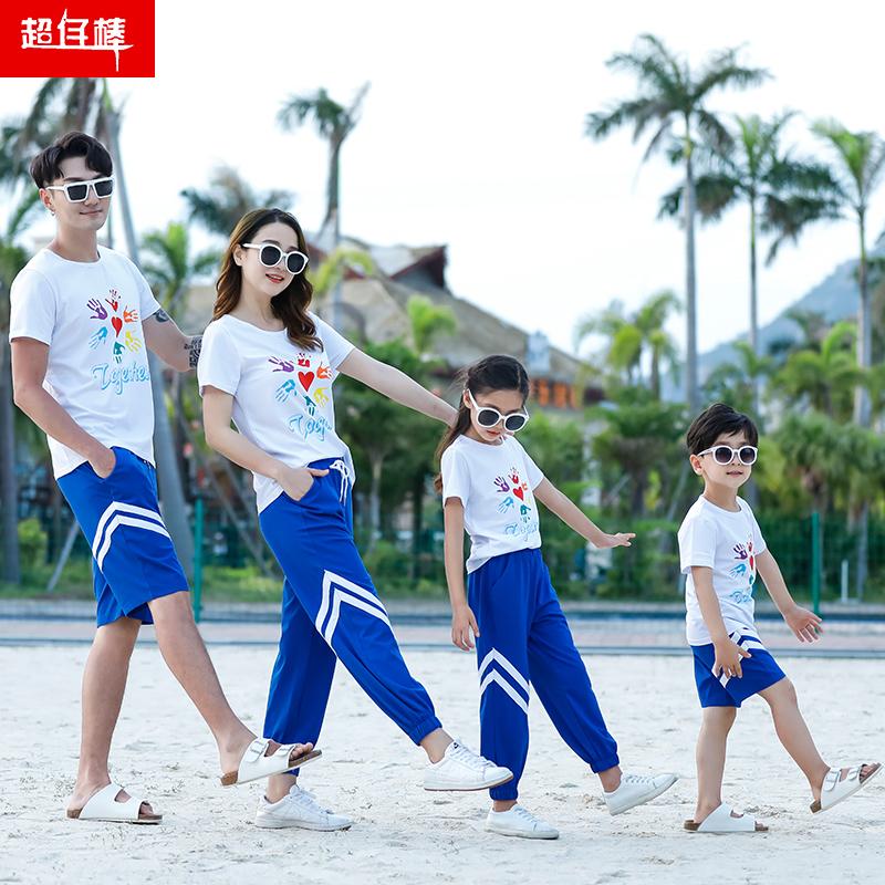新款潮运动套装亲子装家装一家三母女母子