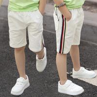 男童白色七分裤