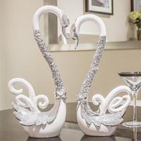 创意结婚礼物实用闺蜜摆件订婚新婚庆礼品现代客厅天鹅家居装饰品
