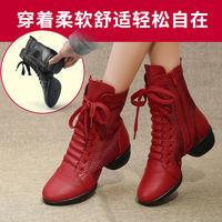 Jiao Baihui leather dance shoes women's shoes adult square dance shoes jazz four seasons dance shoes soft bottom sailor dance boots