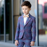 Boy's suit, spring and autumn walk show, host's birthday dress, children's small suit, boy's flower dress