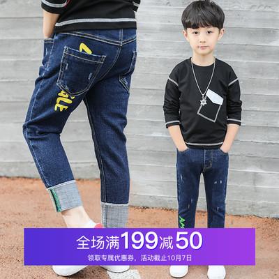 男童牛仔裤春装2018新款儿童直筒裤子中大童宽松长裤春秋韩版童装