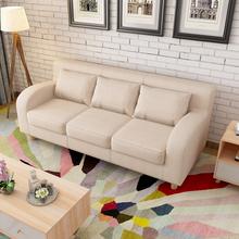 简约布艺沙发双人现代小户型客厅单三人位美式卡座沙发组合咖啡厅