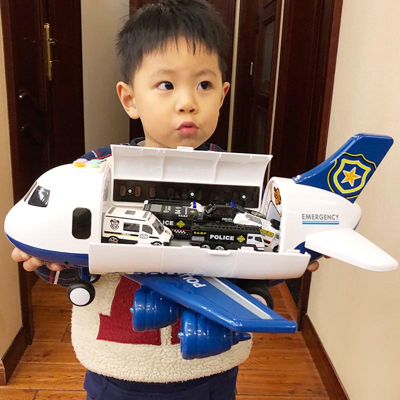 儿童玩具飞机男孩宝宝超大号音乐轨道耐摔惯性玩具车仿真客机模型