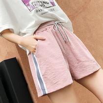 2019新款韩版百搭超短裤女夏季学生高腰阔腿女裤大码宽松女士短裤