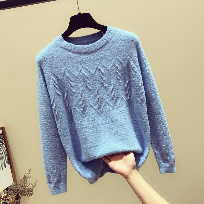 串珠针织毛衣
