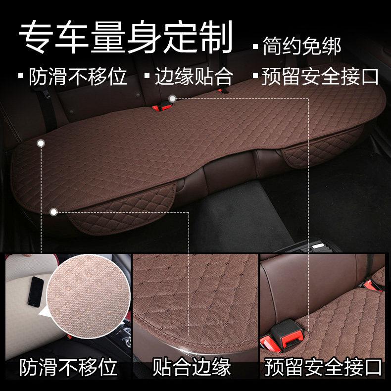 亚麻汽车坐垫四季通用单片无靠背车座套19新款凉垫三件套冰丝座垫