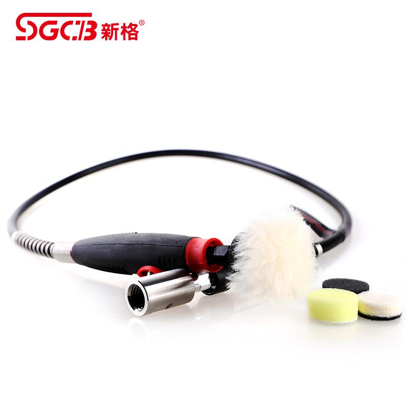 台湾SGCB新格点磨机汽车车灯车标细节抛光器玻璃划痕抛光软轴工具