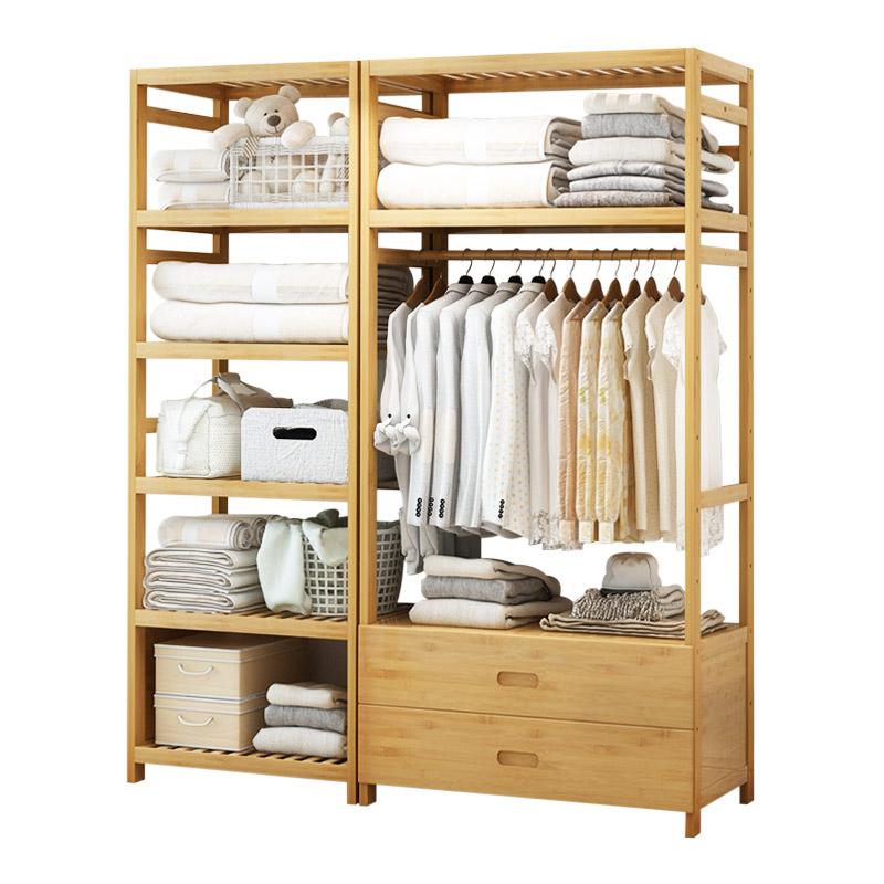 储物柜收纳简易衣柜组装柜子置物柜自由组合组装多功能双人衣橱