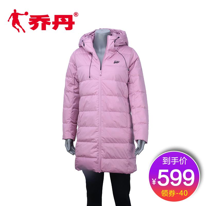 【商场同款】乔丹羽绒服女2018冬季新款休闲中长款外套BGM4284206
