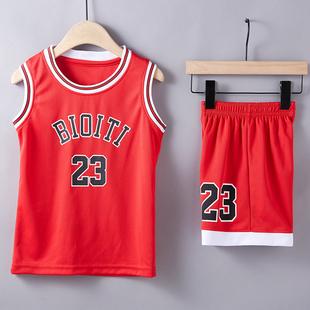 兒童籃球服套裝男女童夏季寶寶運動訓練服幼兒園表演服團隊籃球衣