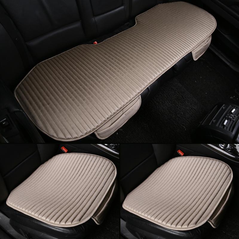 夏季汽车坐垫单片透气单座无靠背通用三件套荞麦后排四季座垫凉垫