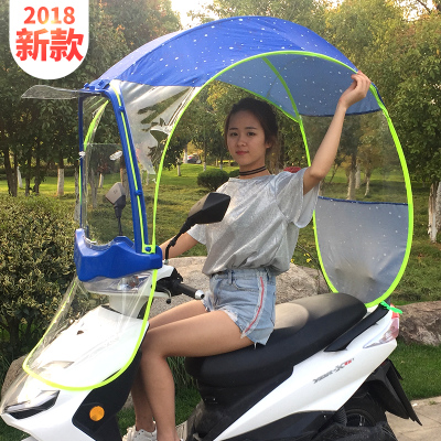 电动摩托车遮雨篷棚新款电瓶车挡风罩挡雨透明全封闭遮阳防晒雨伞哪里购买