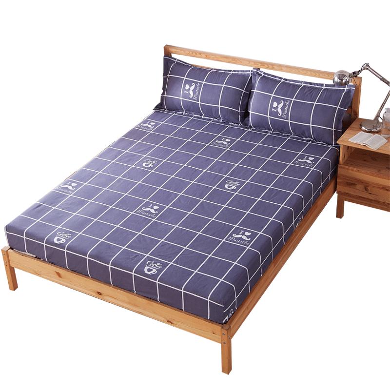 床笠单件席梦思保护套防尘罩床裙床垫套床单1.8/1.5/m卡通防滑罩